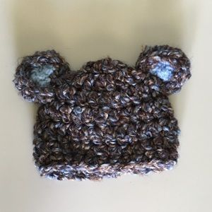 Other - Handmade Baby Bear Hat, 0-3 months